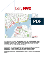 July 4 2014 - List of Road Closures With Map o (1)
