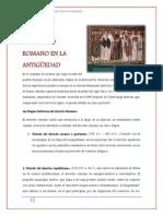 El Derecho Romano en La Antiguedad