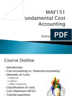Chapter 1 Introduction to Cost Accounting
