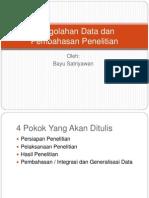 Pengolahan Data Dan Pembahasan Penelitian