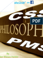 CSS ( also IAS/CSM/PMS) Philosophy Notes