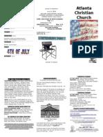 June 29, 2014 Trifold Bulletin
