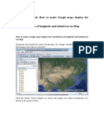How to Make Google Maps Display the Coordinates of Longitude and Latitude in ArcMap(1)