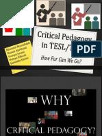 Critical Pedagogy in TESL/TEFL