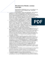 Fundición Clasificación de los Metales y normas Presentation Transcript (Autoguardado).docx