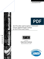 ANSI A250.3 Test Procedure and Acceptance Criteria for Factory Applied Finish Coatings for Steel Doors and Frames