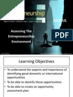 assessing the Entrepreneurship Environment