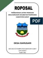 Proposal Permohonan Listrik Pedesaan Barusari