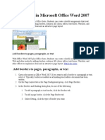 Add Borders in Microsoft Office Word 2007