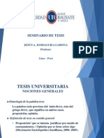 Seminario de Tesis - 1