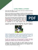 La Ética Pública y El Futbol