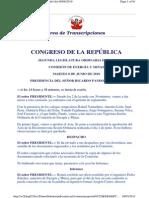 Congreso Comision de Energia y Minas Ssobre Raura 2010