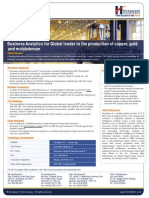 Casestudy - MFG Business Analytics work for world's largest traded copper company