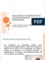 Evaluacion y Diagnostico de Los Problemas de Aprendizaje