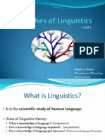 Unit 1 - 02 Branches of Linguistics