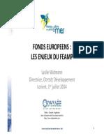 Odyssée Dev Présentation FEAMP Assises de La Pêche Juillet 2014