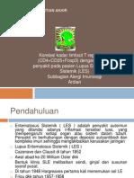 Korelasi kadar limfosit T regulator (CD4+CD25+Foxp3) Lengkap