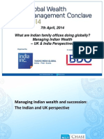 Panel discussion-what are indian family offices doing globally? Managing Indian Wealth - UK & India Perspectives