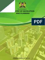 Ministry of Devolution and Planning Strategic Plan 2013/14 - 2017
