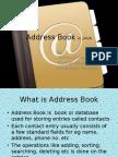 Address Book in JAVA