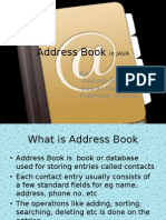 Address Book in JAVA