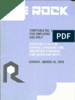 CRI&P System Employee TT #1 Mar 18 1979