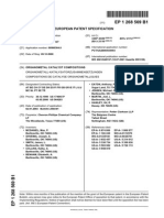 EP1268569B1 ORGANOMETAL CATALYST COMPOSITIONS