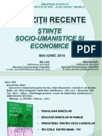 Achiziţii recente.  Ştiinţe  socio-umanistice şi economice, perioada   MAI-IUNIE 2014