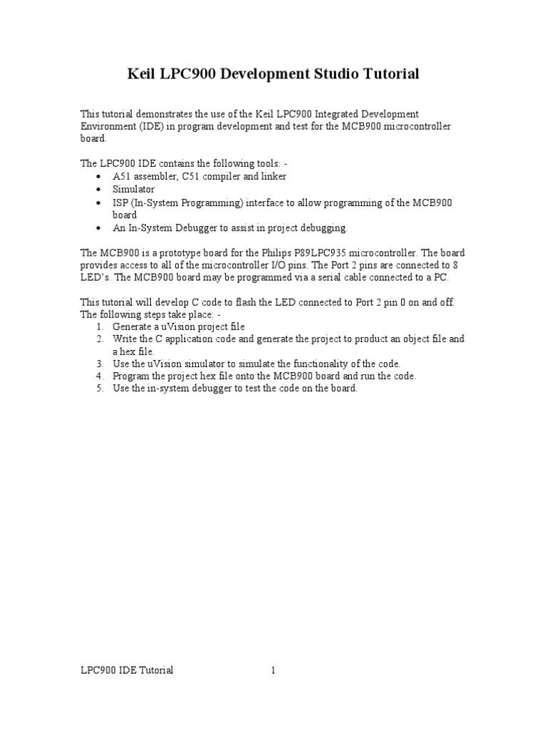 Keil uVision 3 Tutorial | Integrated Development Environment
