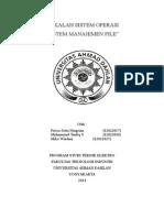 Makalah Manajemen File (Harus Revisi, Sesuaikan Dengan PPT Ya )