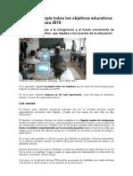 ESPAÑA INCLUMPLE TODOS LOS OBJETIVOS EDUCATIVOS