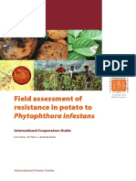 Field assessment of resistance in potato to Phytophthora infestans
