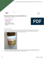 Ayurvedic Tooth Powder – Indian Beauty Blog