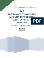 Términos de Referencia_Programa de Formación en Emprendimiento dirigido a´jóvenes en riesgo de exclusión