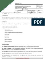 Pex01-002-12 - Calibração de Medidor Analógico de Pressão e Medidores Digital de Pressão