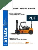 STILL/KALMAR spare parts manual R70-60/70/80 in German