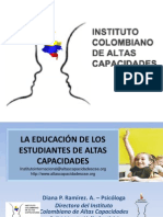 Powerpoint Instituto Colombiano de Altas Capacidades