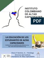 Powerpoint Instituto Colombiano de Altas Capacidades