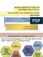Changing Perspectives on Distribution Policy