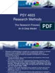 The Research Process as 8-Step Model - Research Methods (Psychology).ppt