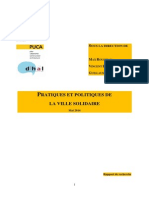 CIRAD - Pratiques et politiques de la Ville solidaire / Dihal - Puca