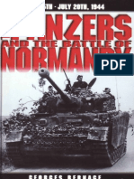 The Panzers and the Battle of Normandy - Georges Bernage