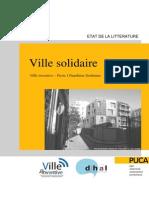 VILLE INVENTIVE - Ville solidaire