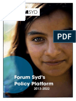 Forum Syd Policy Platform 2013 2022