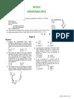 2011 BITSAT Solved Paper