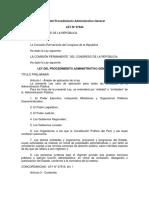 PLAN 14110 LEY Nº 27444 - Ley Del Procedimiento Administrativo General 2012