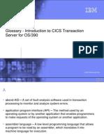 Glossary for Intro to CICS Transaction Server 102704