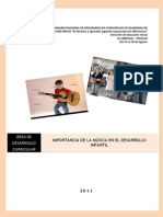 Separata Importancia de La Musica en El Desarrollo Infantil