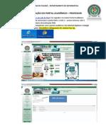 Manual de Utilização Do Portal Acadêmico Pelo Professor