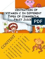 171729449 Concentration of Vitamin C in Different Commercial Fruit Juices